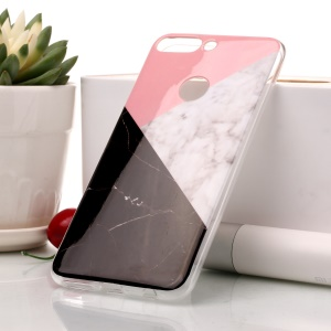 Marble Pattern IMD TPU Phone Shell for Huawei Honor 7C / Enjoy 8/Y7 Prime (2018) - Pink / Grey / Black