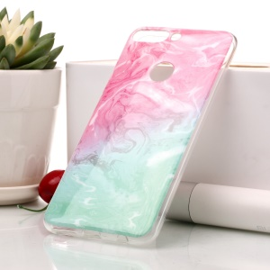 Marble Pattern IMD TPU Cell Phone Case for Huawei Honor 7C / Enjoy 8 /Y7 Prime (2018) - Pink / Green