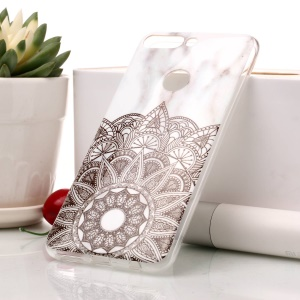 Marble Pattern IMD TPU Cell Phone Cover for Huawei Honor 7C / Enjoy 8 /Y7 Prime (2018) - Mandala Pattern