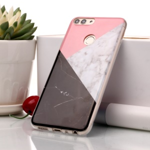 Marble Pattern IMD TPU Shell Case for Huawei P Smart / Enjoy 7S - Pink / Grey / Black