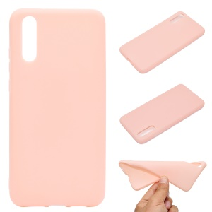 For Huawei P20 Solid Color Frosted Soft TPU Phone Case Shell - Pink