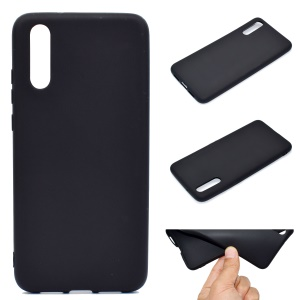 For Huawei P20 Pro Solid Color Matte Soft TPU Phone Case - Black