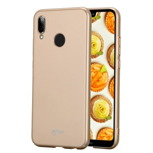 LENUO Leshield Series Silky Touch Rubberized PC Phone Back Cover for Huawei P20 Lite / Nova 3e (China) - Gold
