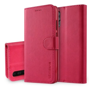 LC.IMEEKE Wallet Stand Leather Phone Cover for Huawei P20 - Rose