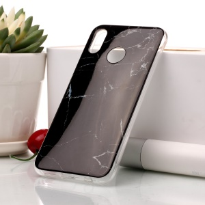 For Huawei P20 Lite / Nova 3e Marble Pattern IMD TPU Mobile Phone Case Cover - Black