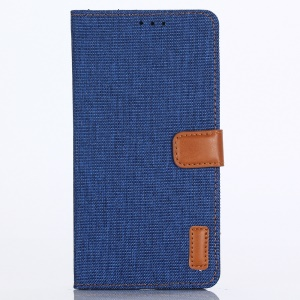 Jeans Cloth Leather Wallet Shell Case for Huawei P20 Pro - Baby Blue