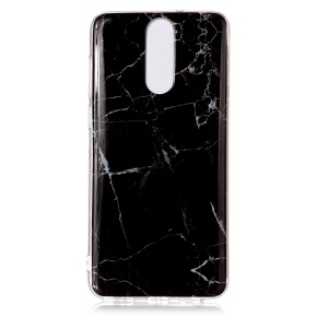 Marble Pattern IMD TPU Back Case for Huawei Mate 10 Lite / nova 2i / Maimang 6 / Honor 9i (India) - Black