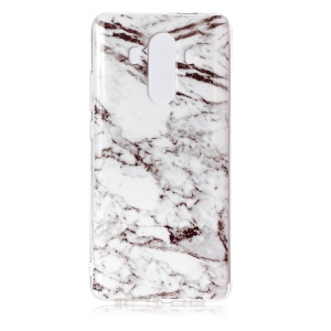 Marble Pattern IMD TPU Case for Huawei Mate 10 Pro - White / Black