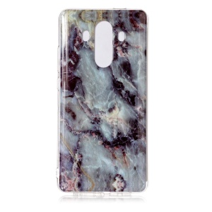 Marble Pattern IMD TPU Mobile Cover for Huawei Mate 10 Pro - Black Blue