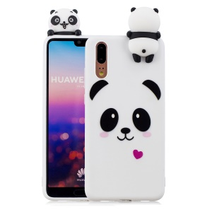 3D Animal Pattern Printing Soft TPU Case for Huawei P20 - Panda