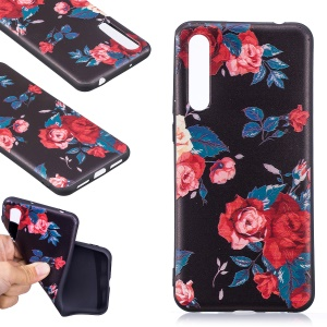 Embossment Patterned TPU Back Cover for Huawei P20 Pro - Peony