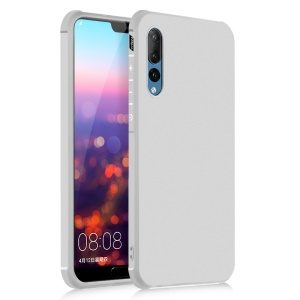 All-wrapped Drop-proof TPU Mobile Phone Case for Huawei P20 Pro - White
