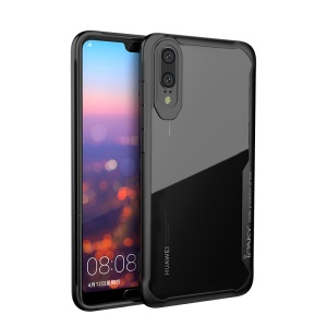 IPAKY Anti-drop PC + TPU Hybrid Back Case for Huawei P20 - Black
