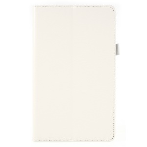 Litchi Texture PU Leather Protection Cover for Huawei MediaPad M5 8 (8.4-inch) - White
