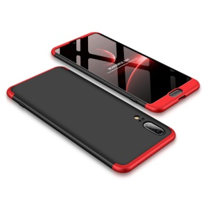 GKK Detachable 3-Piece Matte Hard Phone Case for Huawei P20 - Red / Black