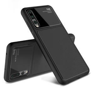 LENUO Tempered Glass Lens TPU Case for Huawei P20 Pro - Black