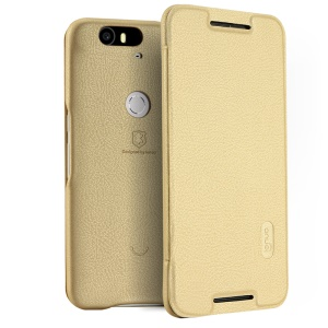 LENUO Ledream Series PU Leather Case for Huawei Nexus 6P - Champagne