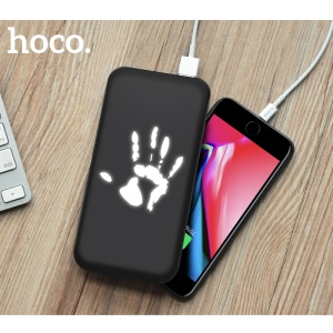 HOCO J10 10000mAh Dual USB External Power Bank Battery Charger for iPhone Samsung Huawei - Palm Print