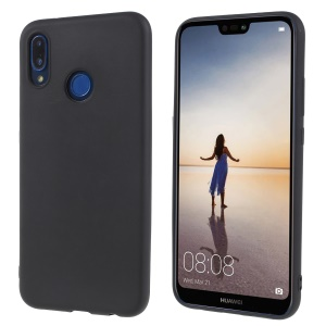 Matte TPU Shell Cover Case for Huawei P20 Lite / Nova 3e (China) - Black