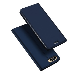 DUX DUCIS Skin Pro Series Flip Leather Stand Mobile Casing for Huawei Y6 (2018)/Honor 7A (without Fingerprint Sensor) - Blue