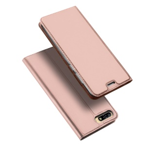 DUX DUCIS Skin Pro Series Flip Leather Mobile Shell Case for Huawei Y6 (2018)/Honor 7A (without Fingerprint Sensor) - Rose Gold