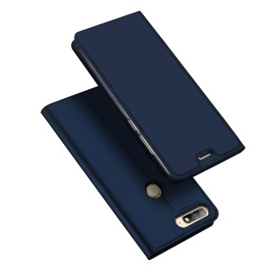 DUX DUCIS Skin Pro Series Leather Stand Cover for Huawei Honor 7A (with Fingerprint Sensor) / Enjoy 8E / Honor 7A Pro - Blue
