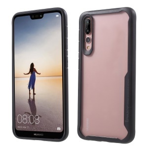 IPAKY Anti-drop PC + TPU Hybrid Mobile Cover for Huawei P20 Pro - Black