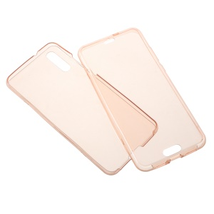2-in-1 Touchable TPU Case (Front + Back) for Huawei P20 - Pink