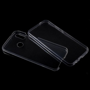 2-in-1 Touchable TPU Cover (Front + Back) for Huawei P20 Lite/Nova 3e - Transparent