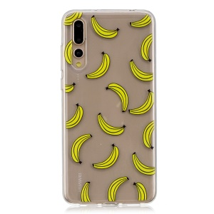 Musterdruck TPU Case Shell Für Huawei P20 Pro - Bananenmuster