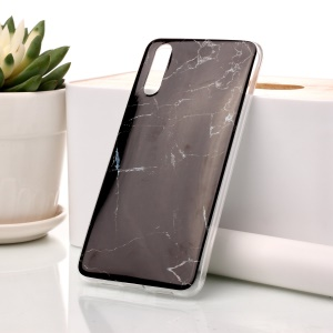 Marble Pattern IMD TPU Case for Huawei P20 - Black