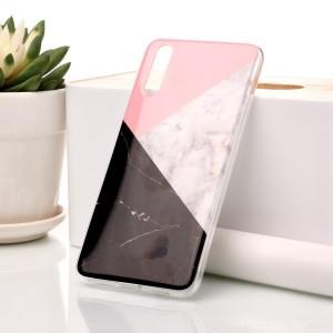 Marble Pattern IMD TPU Shell Case for Huawei P20 - Pink / Grey / Black