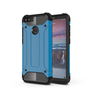 Armor Guard Plastic + TPU Combo Phone Cover Case for Huawei Honor 9i (2018) 5.84-inch - Baby Blue