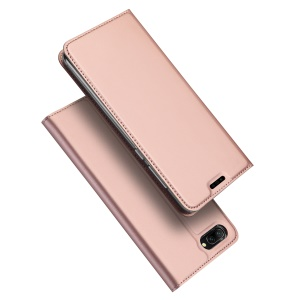 DUX DUCIS Skin Pro Series Auto-absorbed PU Leather Phone Cover with Stand for Huawei Honor 10 - Rose Gold