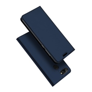 DUX DUCIS Skin Pro Series Card Holder Stand Leather Mobile Shell for Huawei Honor 9i (2018) 5.84-inch / Honor 9N (India) - Dark Blue
