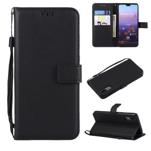 Wallet Leather Stand Case for Huawei P20 - Black