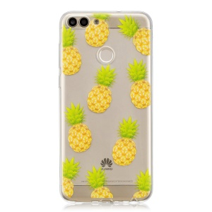Printing Pattern TPU Protection Case for Huawei P Smart/Enjoy 7S - Pineapples