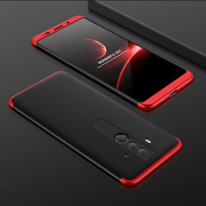 Detachable 3-Piece All-wrapped Matte Hard Case for Huawei Mate 10 Pro - Black / Red