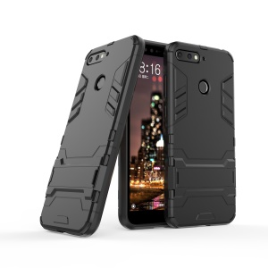 Cool Guard PC TPU Kickstand Case for Huawei Honor 7A (with Fingerprint Sensor)/Honor 7A Pro/Enjoy 8e - Black