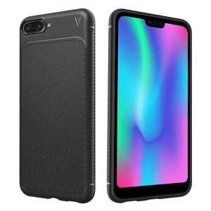 LENUO Gentlemen Series Litchi Texture Soft TPU Case for Huawei Mate 10 - Black