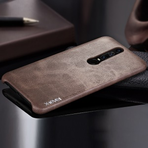 X-LEVEL Vintage Leather Coated PC Mobile Shell for Huawei Mate RS Porsche Design - Coffee