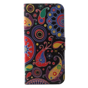 Pattern Printing Wallet Stand Leather Phone Shell for Huawei Honor 10 - Paisley Flower