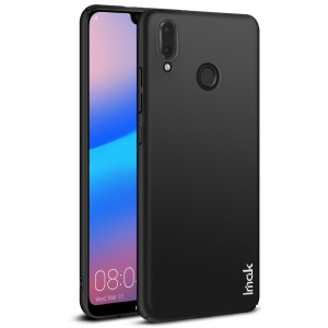 IMAK Jazz Skin Feel PC Back Phone Case + Screen Protector Film for Huawei P20 Lite / Nova 3e - Black