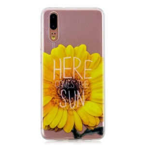 Pattern Printing IMD TPU Mobile Phone Case for Huawei P20 - Sunflower
