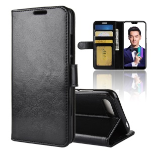 For Huawei Honor 10 Crazy Horse Wallet Leather Case - Black