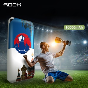 ROCK 2018 World Cup Series Pattern Printing External Mobile Battery 10000mAh 2.1A Power Bank for iPhone iPad Samsung - Dream of Russia