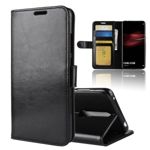 Crazy Horse Texture Wallet Stand Leather Case for Huawei Mate RS Porsche Design - Black