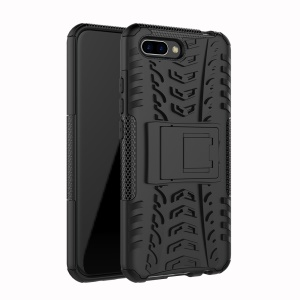 PC + TPU Hybrid Case with Kickstand for Huawei Honor 10 - Black