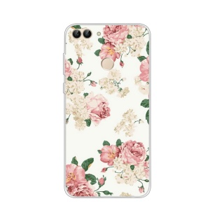Pattern Printing TPU Soft Cover for Huawei P Smart / Enjoy 7S - Elegance Flowers