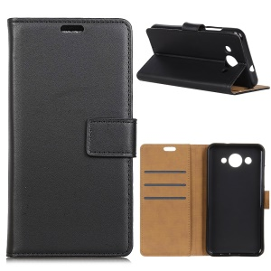 For Huawei Y3 (2018) Wallet Stand Leather Cell Phone Case Accessory - Black
